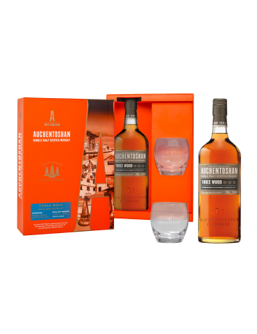 AUCHENTOSHAN THREE WOOD (LIMITED EDITION GIFT PACK WITH 1 GLASS)
