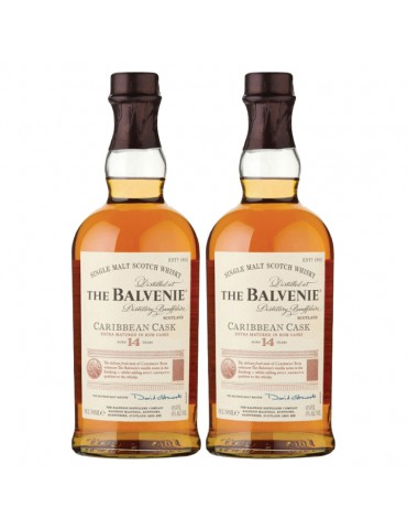 BUNDLE OF 2 - MARCH MADNESS THE BALVENIE CARIBBEAN CASK 14 YEARS