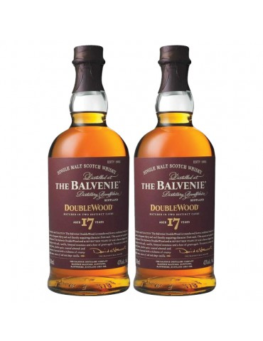 BUNDLE OF 2 - MARCH MADNESS THE BALVENIE DOUBLE WOOD 17 YEARS