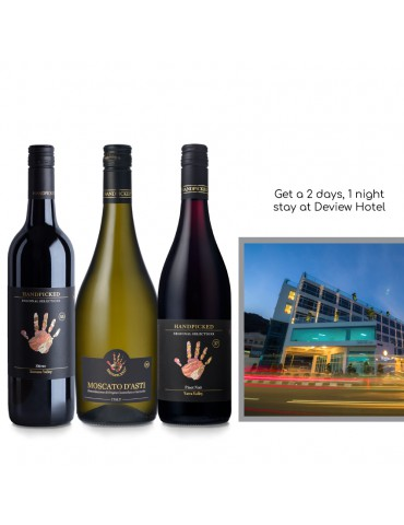 (VALENTINE'S DAY FREE HOTEL STAY PROMO) HANDPICKED RS PINOT NOIR, MOSCATO & SHIRAZ