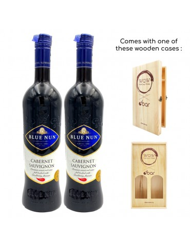 (PREMIUM CNY GIFT PACK WITH WOODEN CASE) BLUE NUN SAUVIGNON SWEET