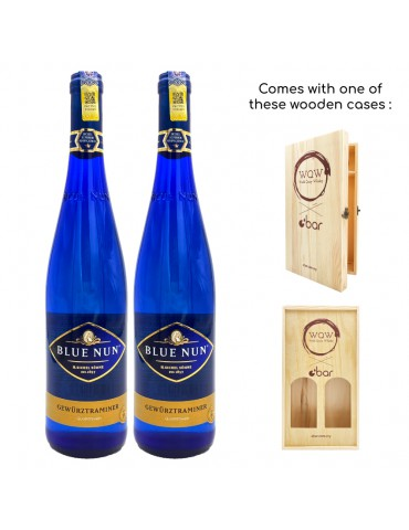 (PREMIUM CNY GIFT PACK WITH WOODEN CASE) BLUE NUN GEWURTRAMINER