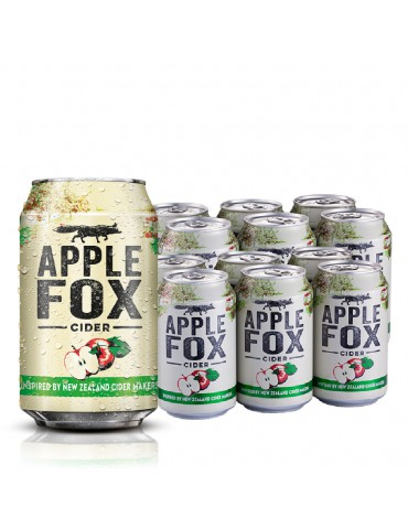 APPLE FOX 320ml 2x6 CAN PACK