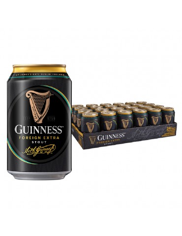 GUINNESS STOUT 320ml 24 CAN PACK