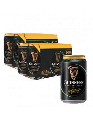 GUINNESS STOUT 320ml 2x6 CAN PACK